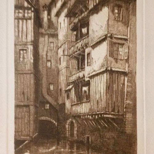 DREVET (Joanny). En Savoie. Chambéry, Dardel, 1923. In 4, 7 ff. Doubles [12 page…