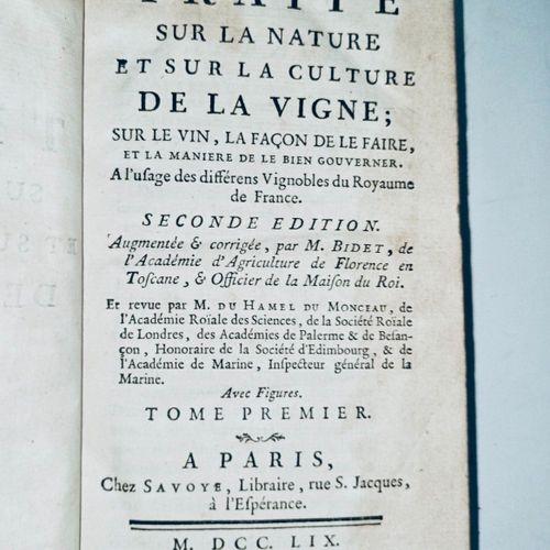 """""""Un des ouvrages capitaux du XVIIIe siècle sur la viticulture.."""" Nicolas BIDET e…"""