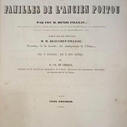 FILLEAU (Henri) Dictionnaire historique et généalogique des familles de l'Ancien…