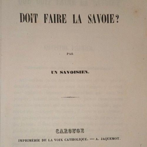 """""""SAVOIE FRANCAISE !!!"""" Savoie Que doit faire la Savoie ? Par un Savoisien. Carou…"""