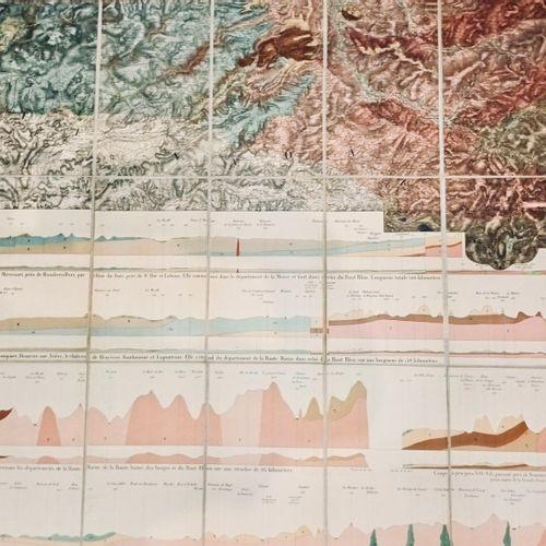 BILLY (Edouard de) Carte géologique du département des Vosges par E. Billy, Ingé…