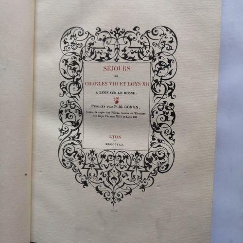 GONON (Pierre Marie). Mélanges historiques et littéraires, ou recueil de documen…
