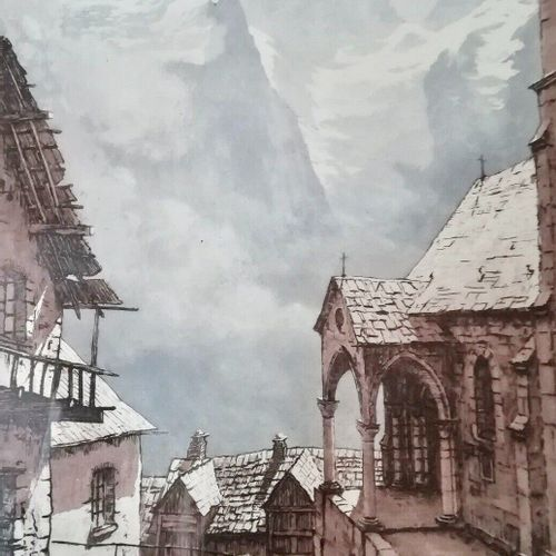 DREVET (Joanny). La Meije depuis Les Terrasses (non répertorié par Beccatini). A…
