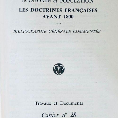 ECONOMIE POLITIQUE INED Economie et population. Les Doctrines Françaises avant 1…