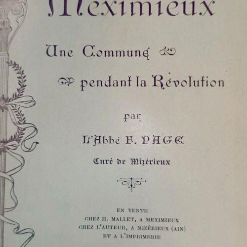 PAGE (Abbé François). Meximieux, une commune pendant la Révolution. Meximieux //…