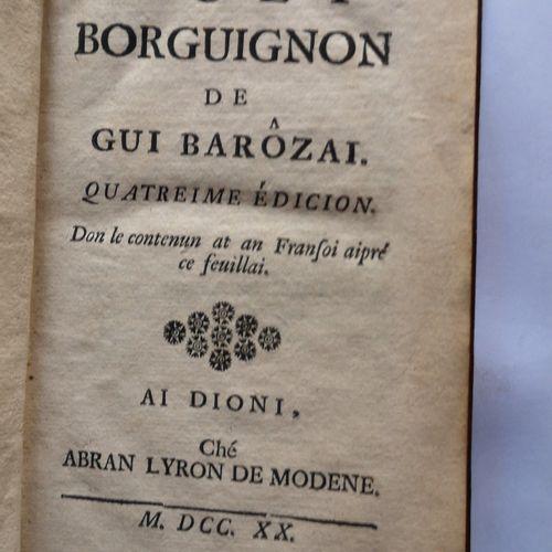 LA MONNOYE (Bernard de). Noël Bourguignon de Gui Barozaï.Quatrieme edicion. Don…