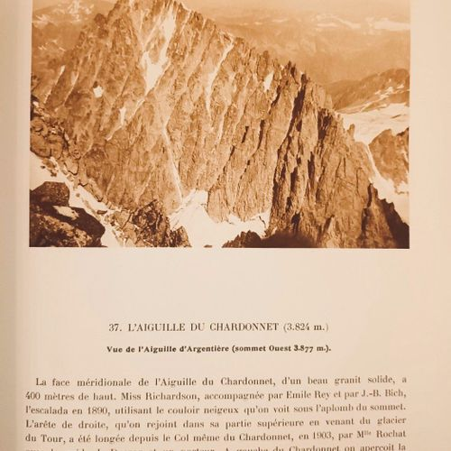 PERRET (Robert). Les panoramas du Mont Blanc. Chambéry, Dardel, 1929. In 4, (2)f…