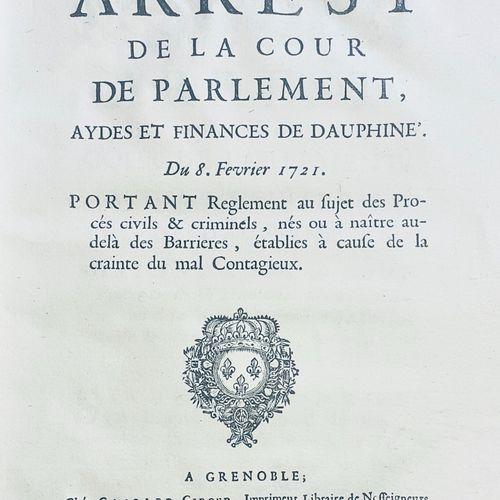 """""""Le Covid au XIXème siècle..."""" ARREST de la Cour de Parlement et finances de DAU…"""