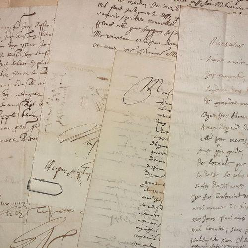 GUERRES DE RELIGION ARDECHE. 4 pièces manuscrites autographes concernant les gue…
