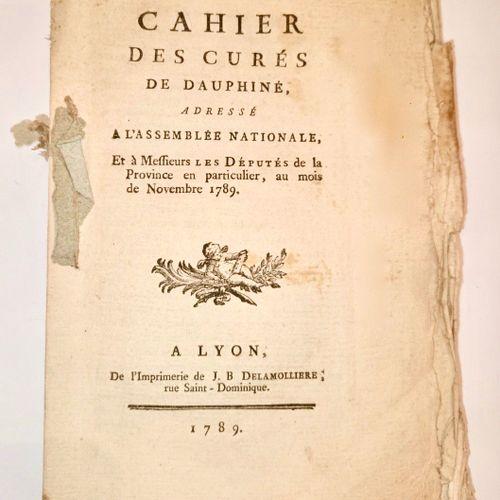 DAUPHINE REVOLUTION. Cahier des Curés de DAUPHINE, adressé à l'Assemblée nationa…