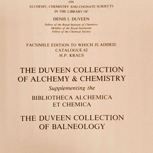 DUVEEN. Bibliotheca Alcheminaca et Chemica....Utrechet, HES 1986. Très fort vol…