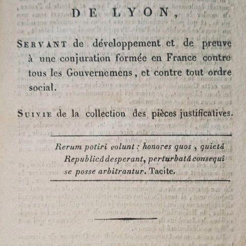 """GUERRE (Jean). """"Histoire de la Révolution de Lyon [journée du 29 mai 1793], serv…"""