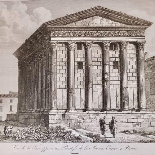 NIMES Très belle gravure fin XVIII, au grand dimensions, dessinée par Bence, gra…