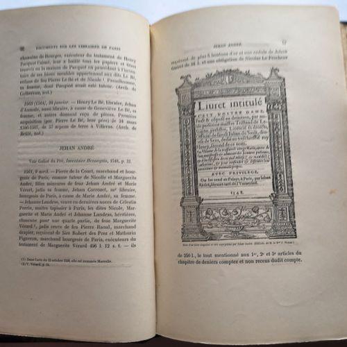 PICHON (le Baron Jérôme) et VICAIRE (Georges). Documents pour servir à l'histoir…