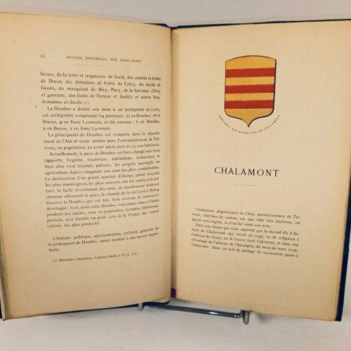 BERTHET (Pierre). Recueil historique sur Chalamont et les communes de son canton…