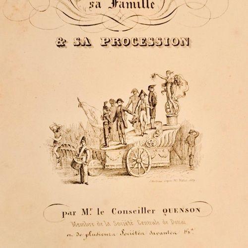 QUENSON (François). Gayant le géant de Douai, sa famille et sa procession. Douai…
