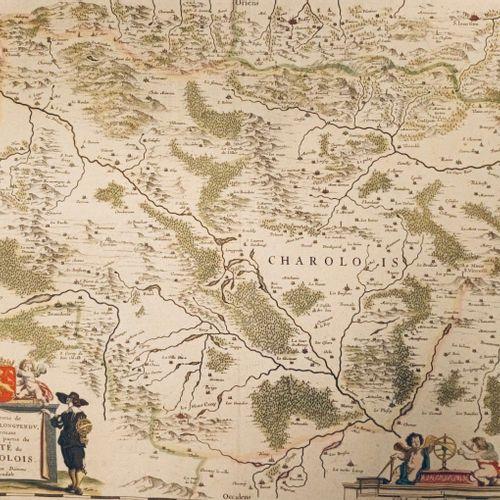"""(BOURGOGNE) Carte des """"Environs de l'estang de Longpendu, comprenant une grande …"""