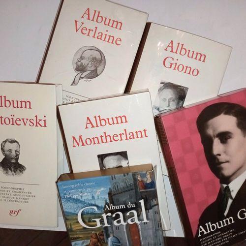 ALBUMS DE LA PLEIADE. Ensemble de 6 volumes, à savoir : Album VERLAINE Album GIO…