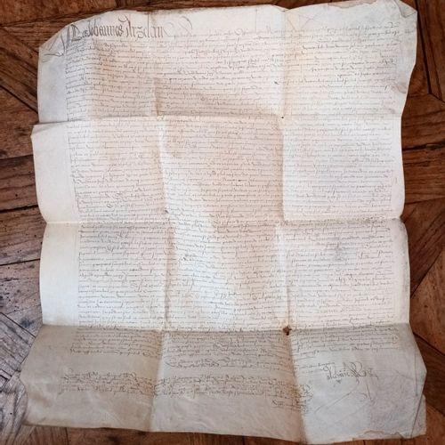 SAVOIE Rare, beau et spectaculaire document du tout début du XVI siècle (1504) r…