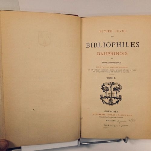 GARIEL (Hyacinthe). Petite revue des bibliophiles dauphinois ou Correspondance e…