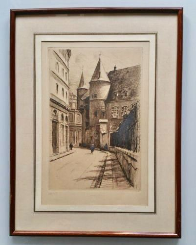 DREVET (Joanny). Grenoble. Rue Hector Berlioz vers l'Hôtel de Ville. Beccatini, …