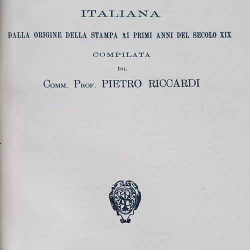RICCARDI (Pietro) Biblioteca Matematica Italiana, dalla origine della stampa ai …