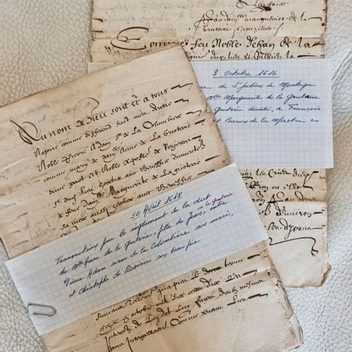AUVERGNE VIVARAIS Deux documents importants du XVII siècle. Vente, de la terre d…