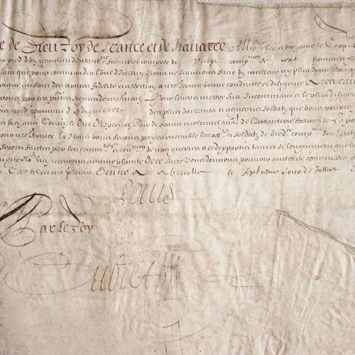 LOUIS XIII DROME Superbe document sur parchemin, daté du 7 Juillet 1639, signé L…