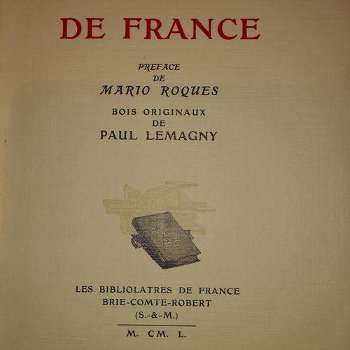 ROQUES (Mario). Vieilles chansons de France. Préface de Mario Roques. Bois origi…