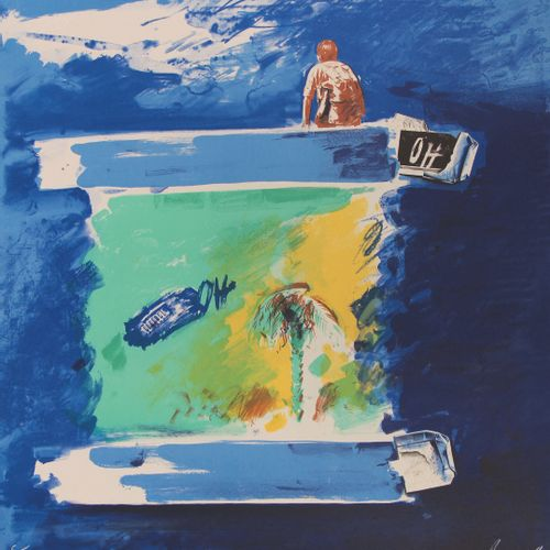 Christian BOUILLE (1948 2005)  Sans titre  Trois lihographies dont deux polychro…