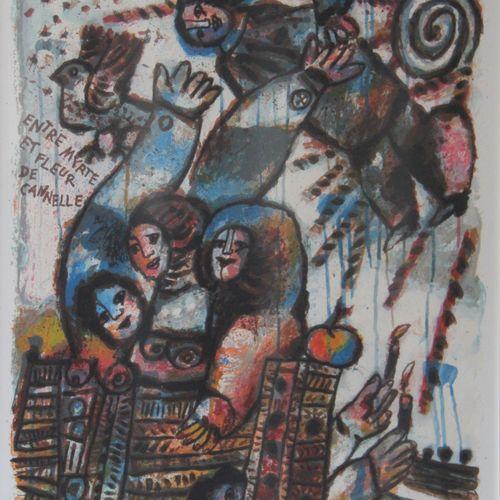 Théo TOBIASSE (1927 2012)  Entre myrthe et fleur de cannelle  Lithographie signé…