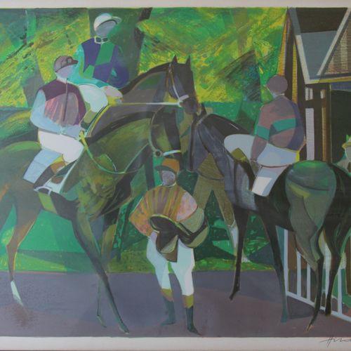 Camille HILAIRE (1916 2004)  Chevaux au paddock et Deux femmes nues  Deux lithog…