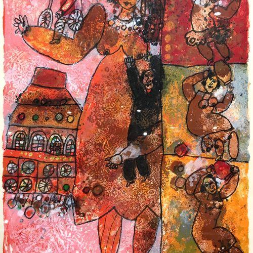 Théo TOBIASSE (1927 2012)  Jacob rencontra Rachel au bord d'un puit  Lithographi…