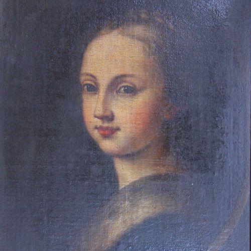 Ecole du XIXème s.  Portrait de femme  Huile sur toile  41 x 33 cm.