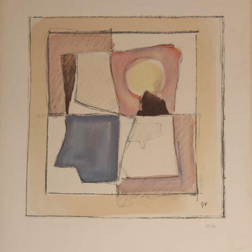 Geer van VELDE (1898 1977)  Sans titre  Lithographie numérotée 18/40  76 x 56 cm…