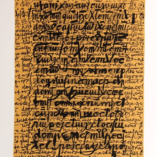 Isidore ISOU (1925 2007)  Composition, 1989  Sérigraphie signée et numérotée de …