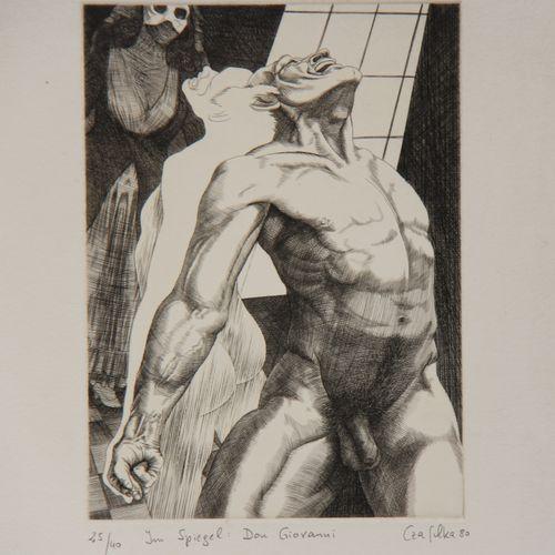 Carton à dessin avec lithographies et autres dont CARZOU, PRANAS, Jean EIFFEL