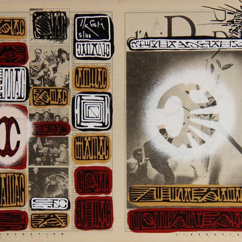 Alain SATIE (1944 2011)  Sans titre  Estampe sur carton, signée et numérotée 5/4…