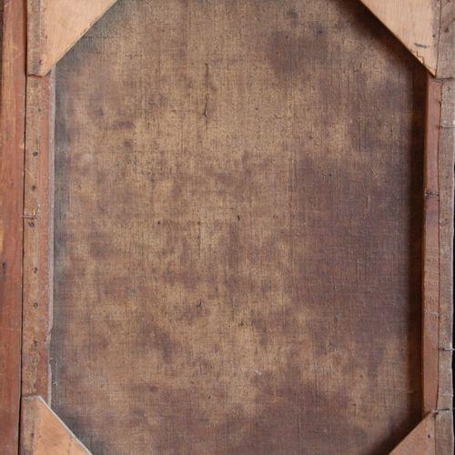 Ecole du XVIIIème s.  Sainte en prière  Huile sur toile  59 x 45 cm. (accidents)