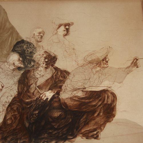 Claude WEISBUCH (1927 2014)  Le peintre et son modèle  Lithographie signée et nu…