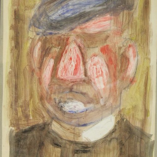 Charles KIFFER (1902 1992)  Le buveur  Aquarelle gouachée signée en bas à gauche…