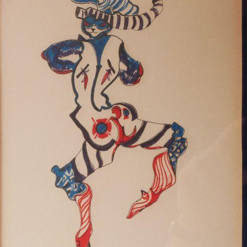 Léonor FINI (1907 1996)  La grande parade des chats  Lithographie signée, n°159/…
