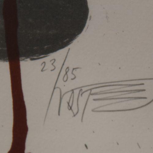 Wolf VOSTELL (1932 1998)  Composition abstraite  Litgographie signée en bas à dr…