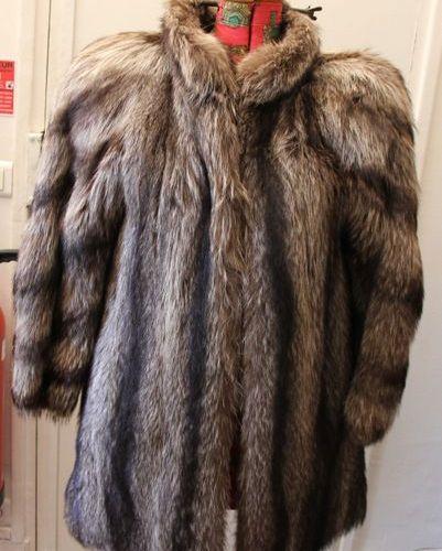 Yves Saint Laurent fourrures manteau en renard