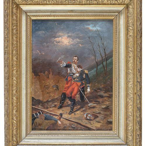 RAOUL VERNEUIL ?  (Francia 1837 1908)    STRENUA DIFESA  DIFESA IN TRINCEA  Copp…