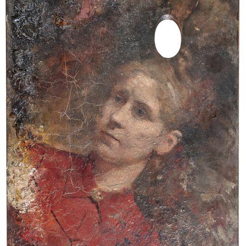 PITTORE ITALIANO, XIX SECOLO    RITRATTO DI DONNA  Olio su tavolozza di pittore,…