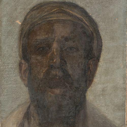 PITTORE INIZI XX SECOLO    VOLTO DI ARABO  Olio su tela, cm. 41 x 32,5