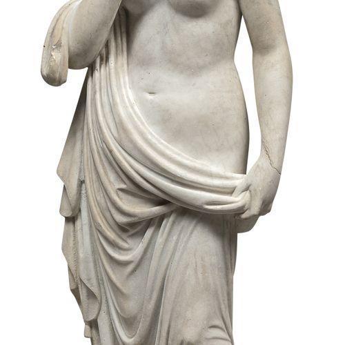 SCULTORE ITALIANO, XIX SECOLO    ALLEGORIA DELLA VERGINITÁ  Statua in marmo bian…
