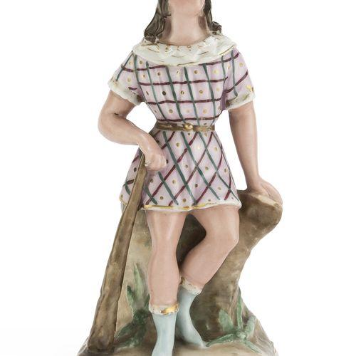 FIGURA ALLEGORICA FRANCIA, INIZI '900  in porcellana dipinta.  Marcata 'MCD', so…