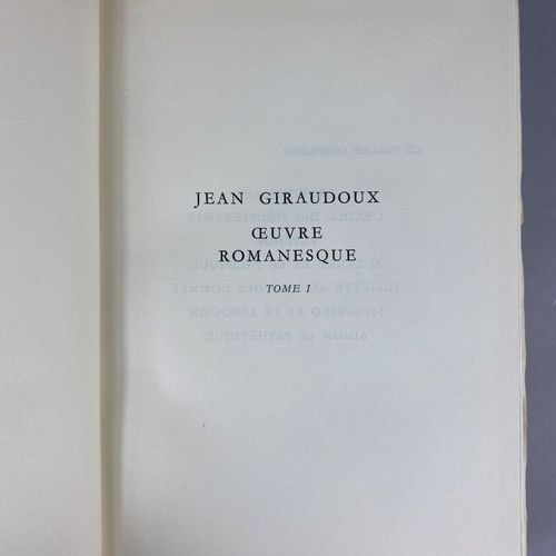 Jean Giraudoux,  Romanesque works and theatre.  Color illustrations by Mariano A…